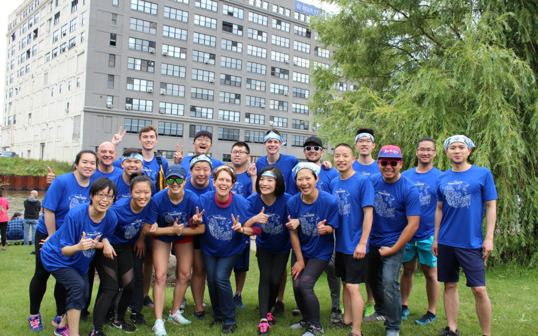 Team PV races in the 2018 Chicago Dragon Boat for Literacy